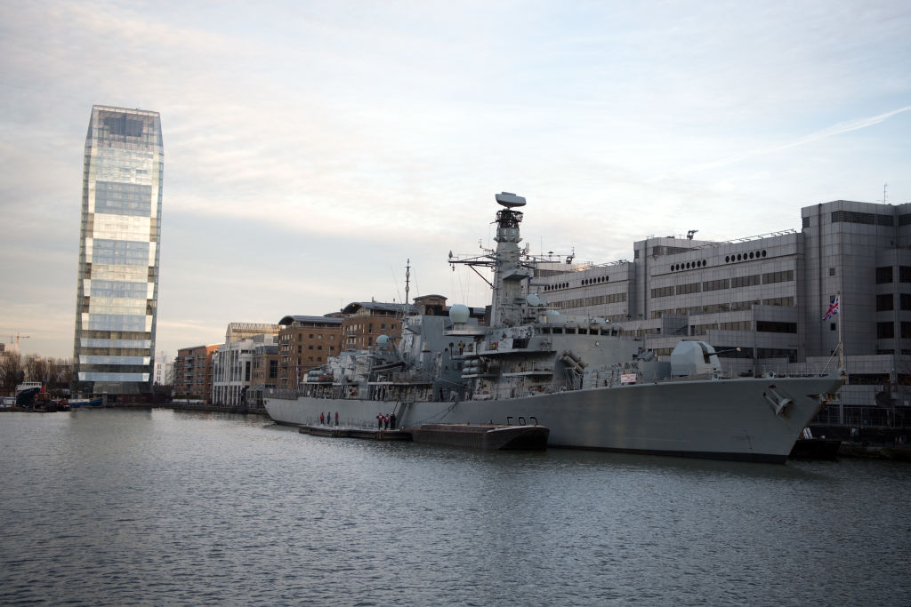 The UK seeks to replace its Type 23 frigates, like the HMS St Albans seen in this 2017 file photo, with a new design. (Carl Court/Getty Images)