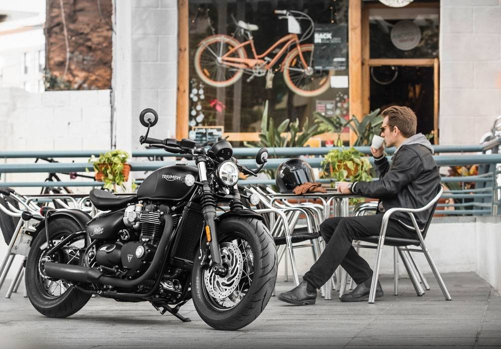 Not too brutal that you can't stop for some good coffee. (Triumph Motorcycles)