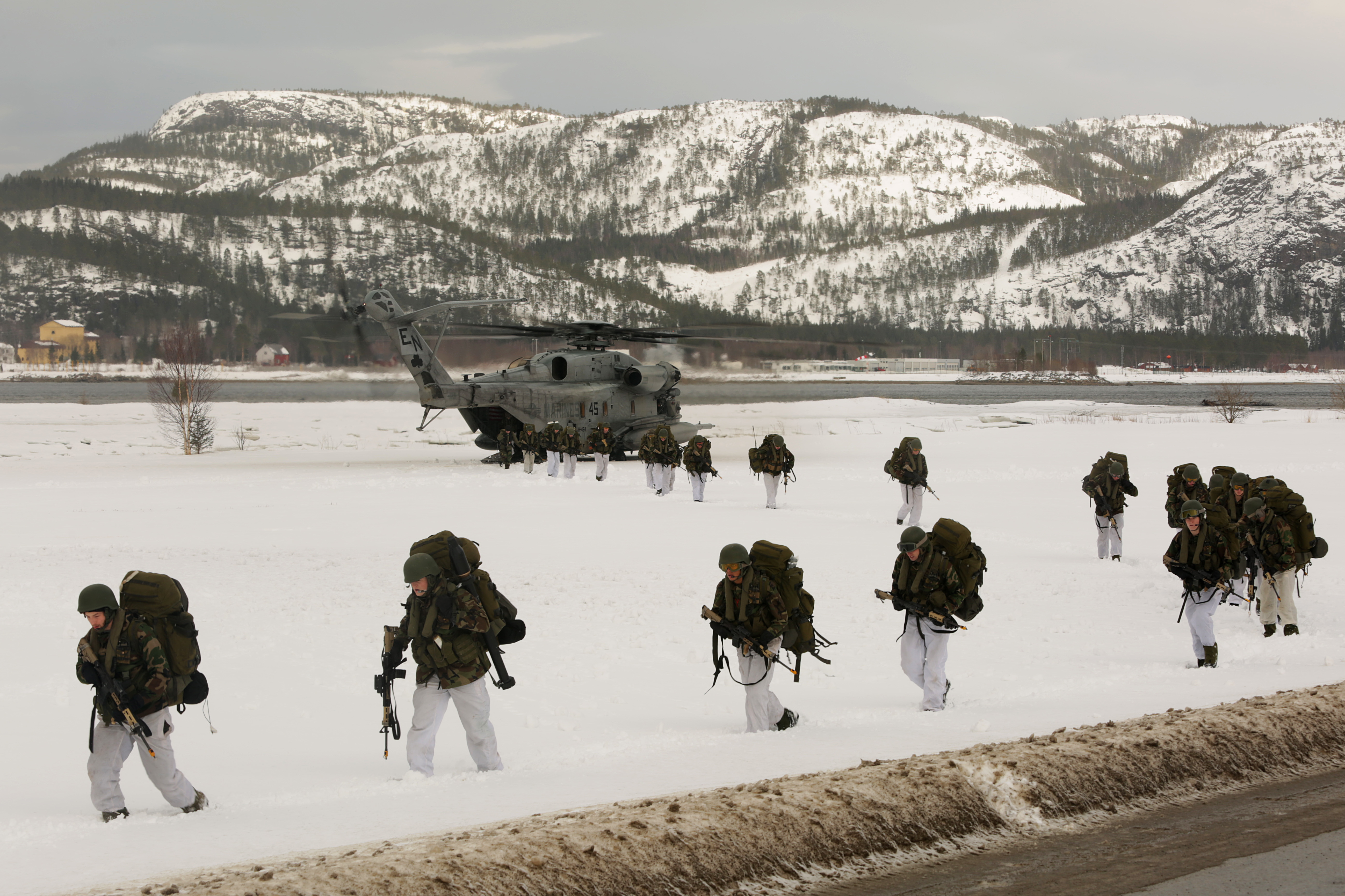 Norway wants to protect its military exercises - like this one where Norwegian soldiers, U.S. Marines, Dutch and U.K. Royal Commandos do an integrated air insert during a training event in March 2016 - from cyber threats.