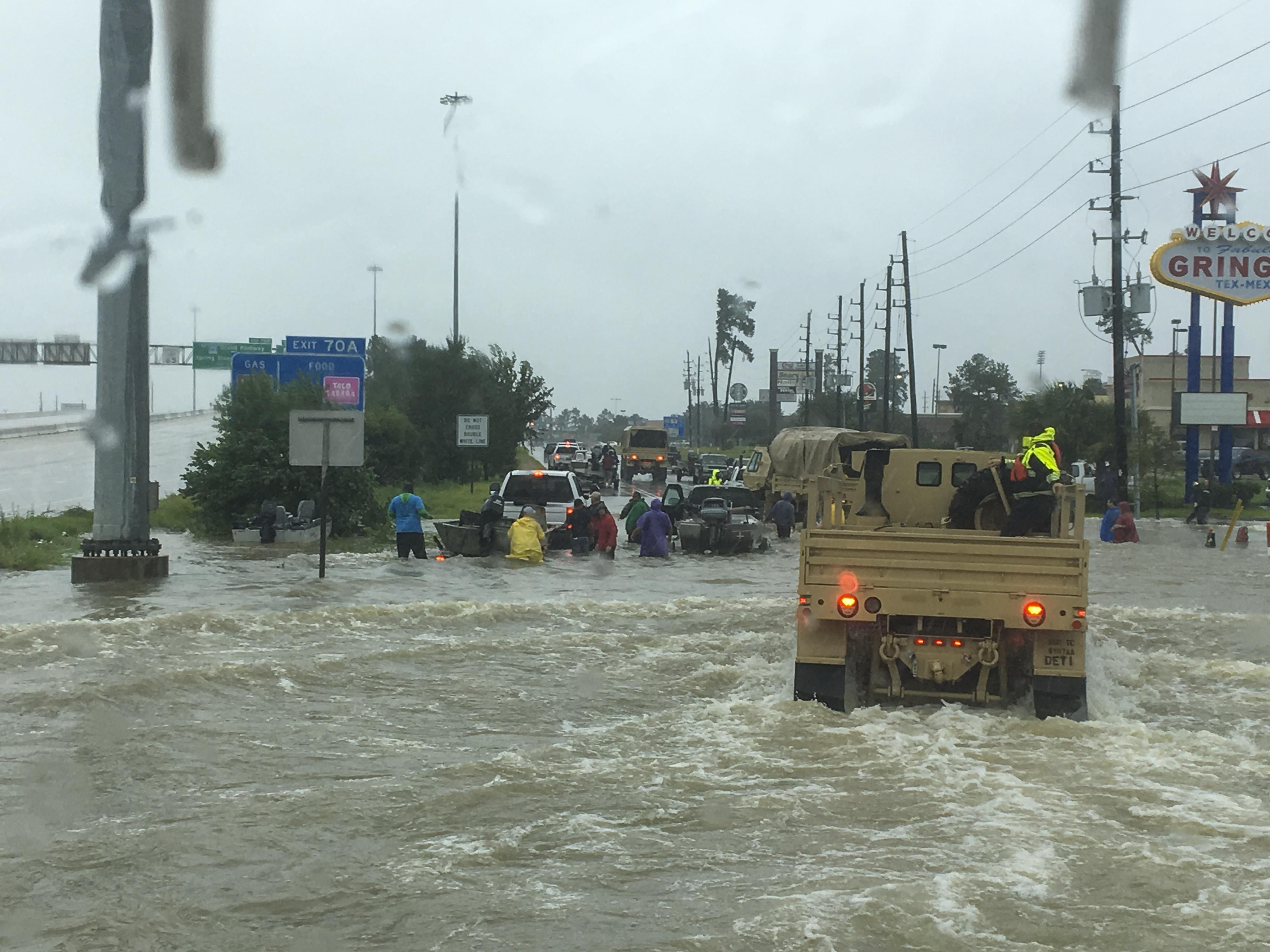 Hurricane Harvey relief efforts continue with 10,000-plus troops on duty