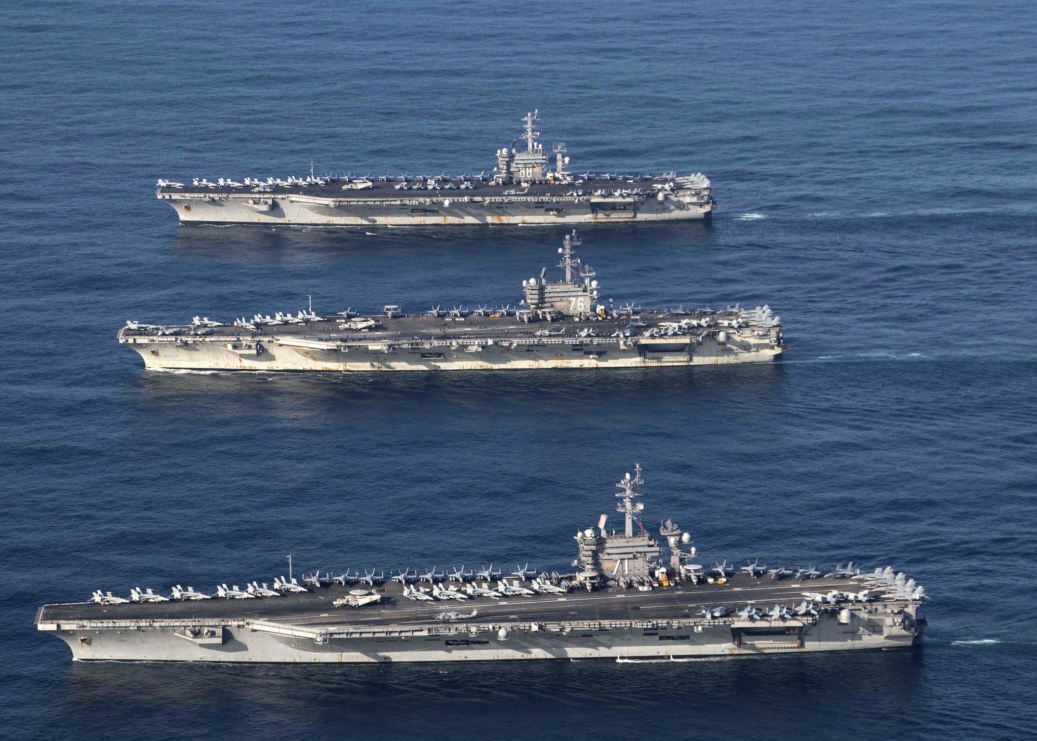 North Korea says US carrier groups raise nuclear war threat