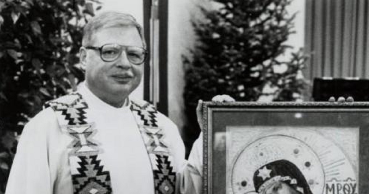 Father Arthur Perrault, seen in this 1989 photo from the Albuquerque Journal, has been extradited to New Mexico, after 26 years on the lam, to face child sexual abuse charges. (Courtesy of the Albuquerque Journal).