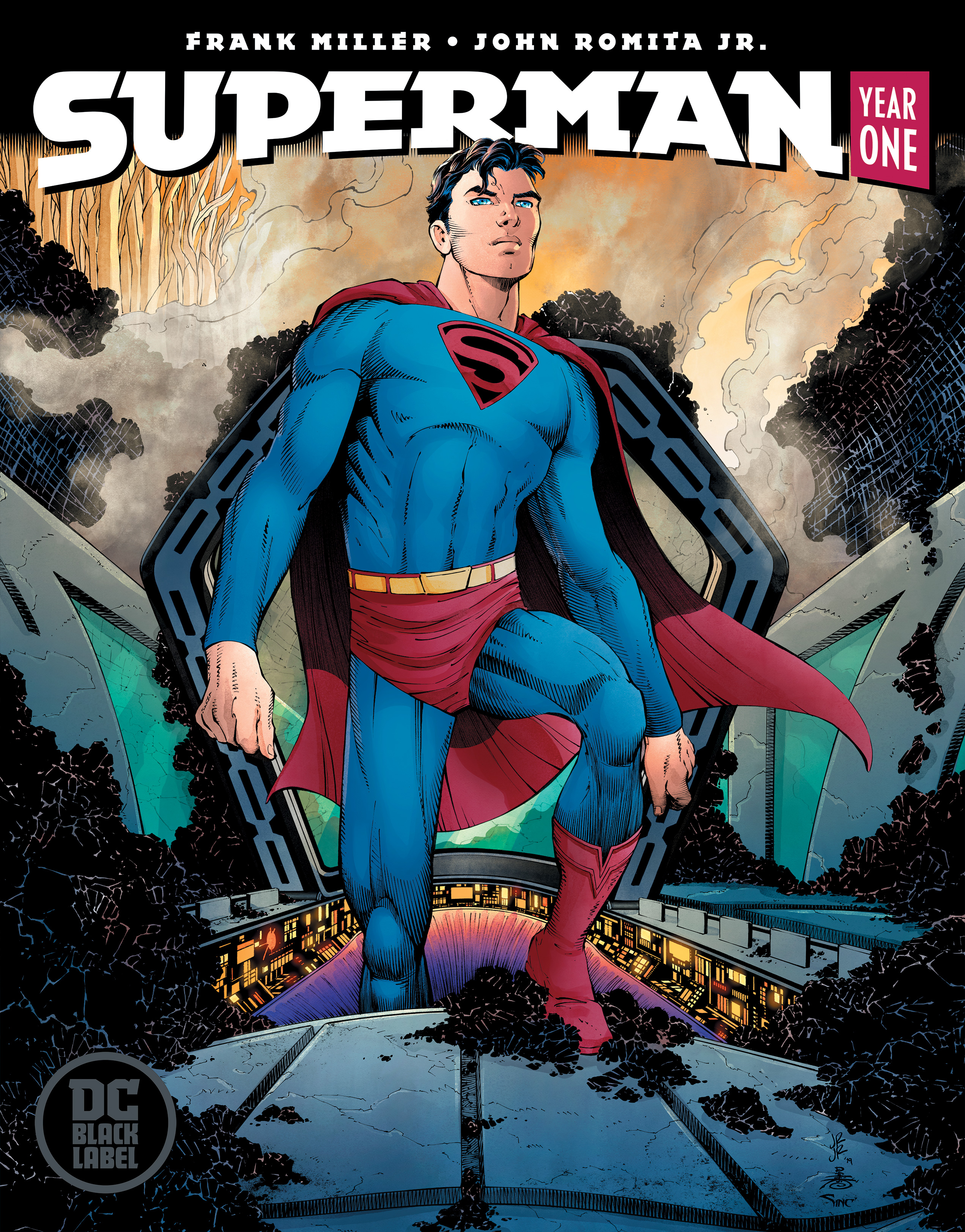 "The new DC Comics Black Label edition cover of ""Superman: Year One,"