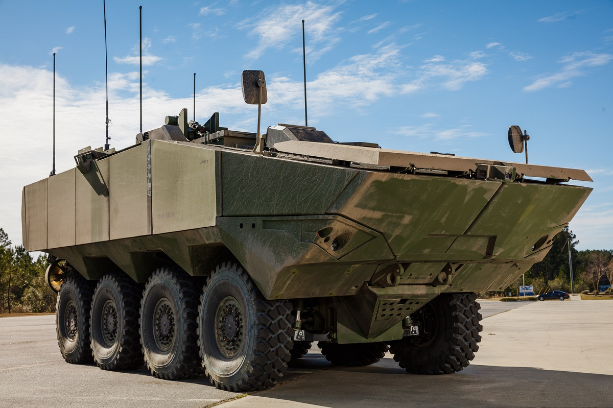 SAIC's first Amphibious Combat Vehicle 1.1 prototype for the U.S. Marine Corps. (Business Wire)