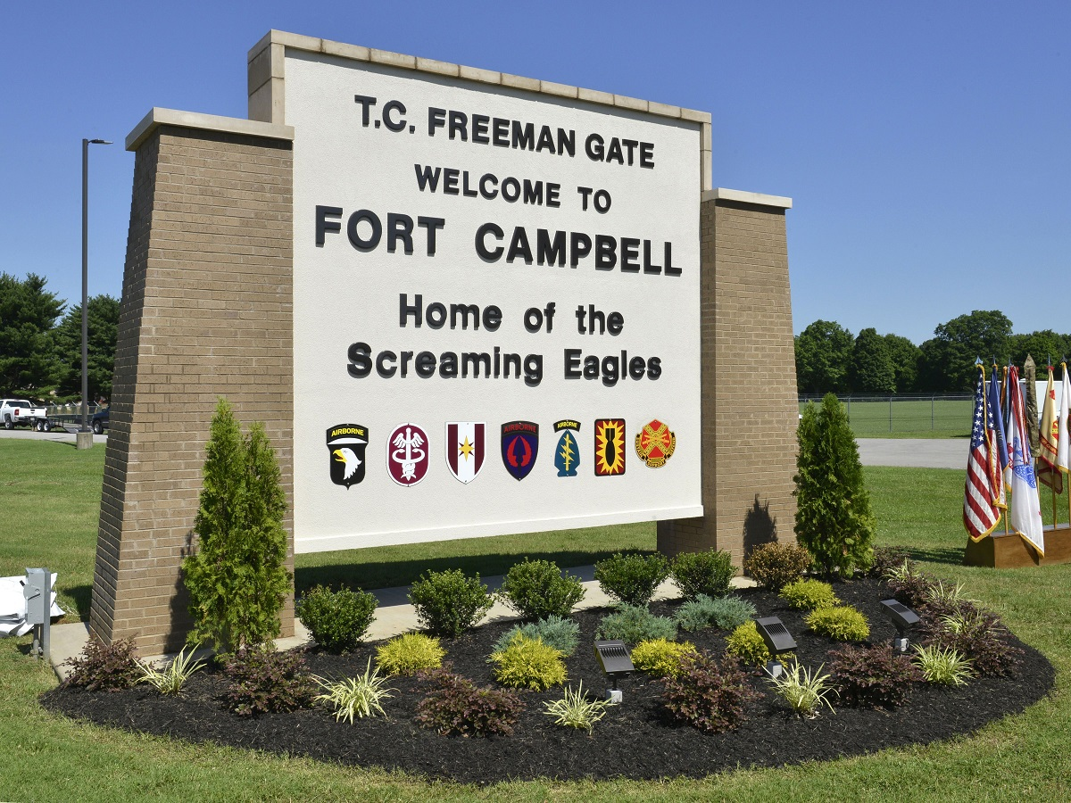 All gates on Fort Campbelly, Kentucky, were closed for an hour Sunday night after shooting in post housing. (Sam Shore/Army)