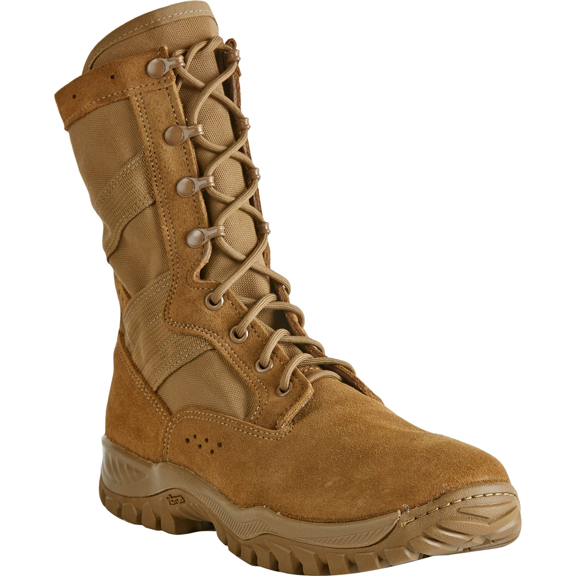 Belleville Boot Company has partnered with Vibram to create a cold weather boot with outer soles the can grip icy, wet surfaces. The boot-sole combination is still under development. (Belleville Boot Company)