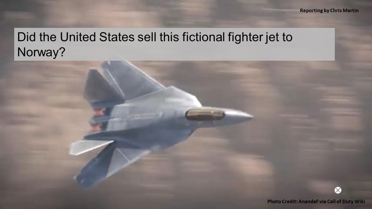The US didn't sell a fictional 'Call of Duty' jet to Norway. Here's what the ally did buy.