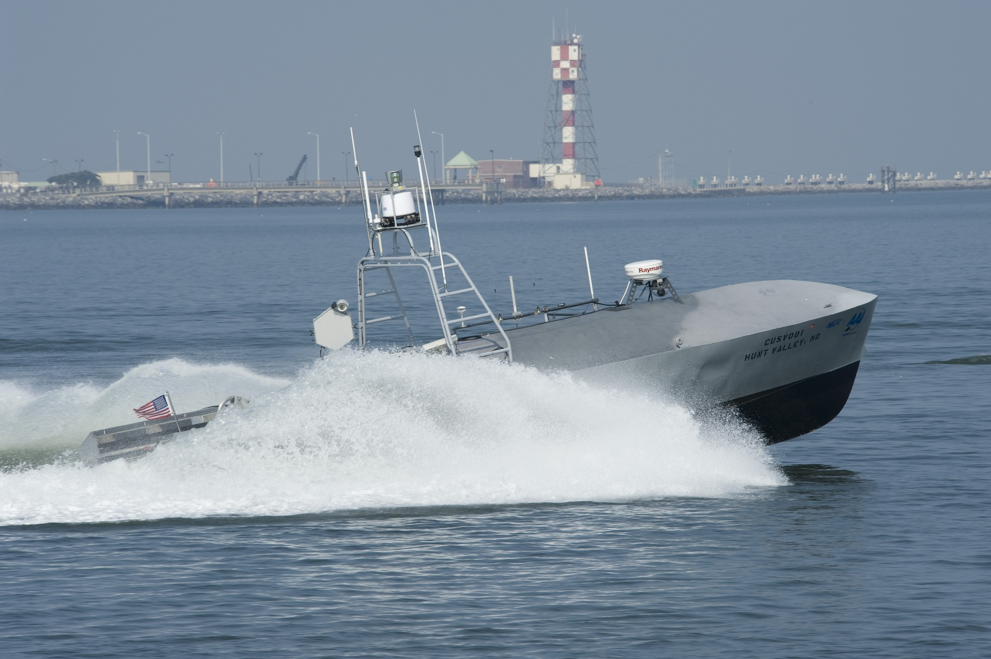 Textron, US Navy are loading guns and missiles on their unmanned mine hunting boat