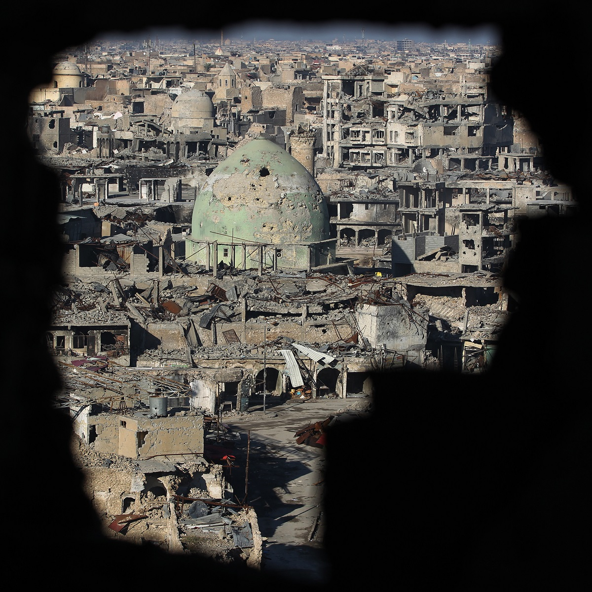 Mosul's Old City on Jan. 8, 2018, six months after Iraqi forces seized the country's second city from ISIS militants. (Ahmad al-Rubaye/AFP via Getty Images)
