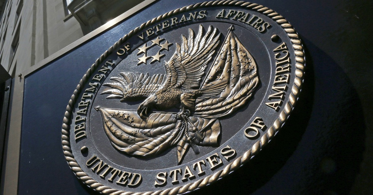 The seal affixed to the front of the Department of Veterans Affairs building in Washington, D.C. (Charles Dharapak/AP)