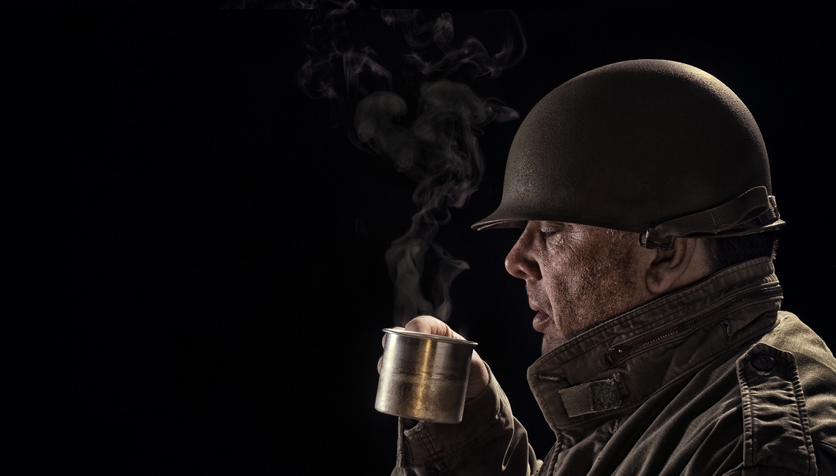 The military's need for coffee has been well-documented for generations, dating all the way back to the American Revolution. (Getty Images)