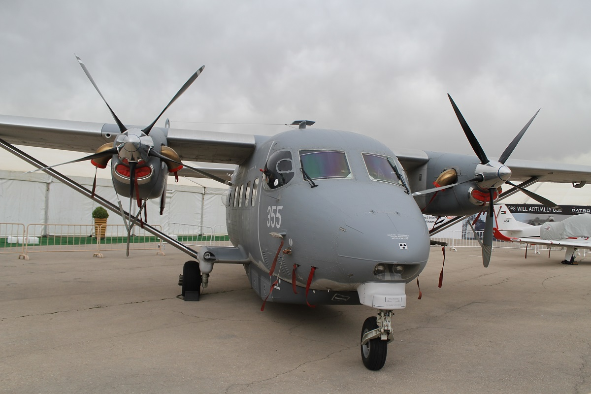 The Royal Jordanian Air Force displayed its PZL Mielec-Sikorsky M28 Skytruck utility transport aircraft. The Polish-made aircraft takes some of the burden off the C-130 Hercules fleet for smaller missions. (Jen Judson/Staff)