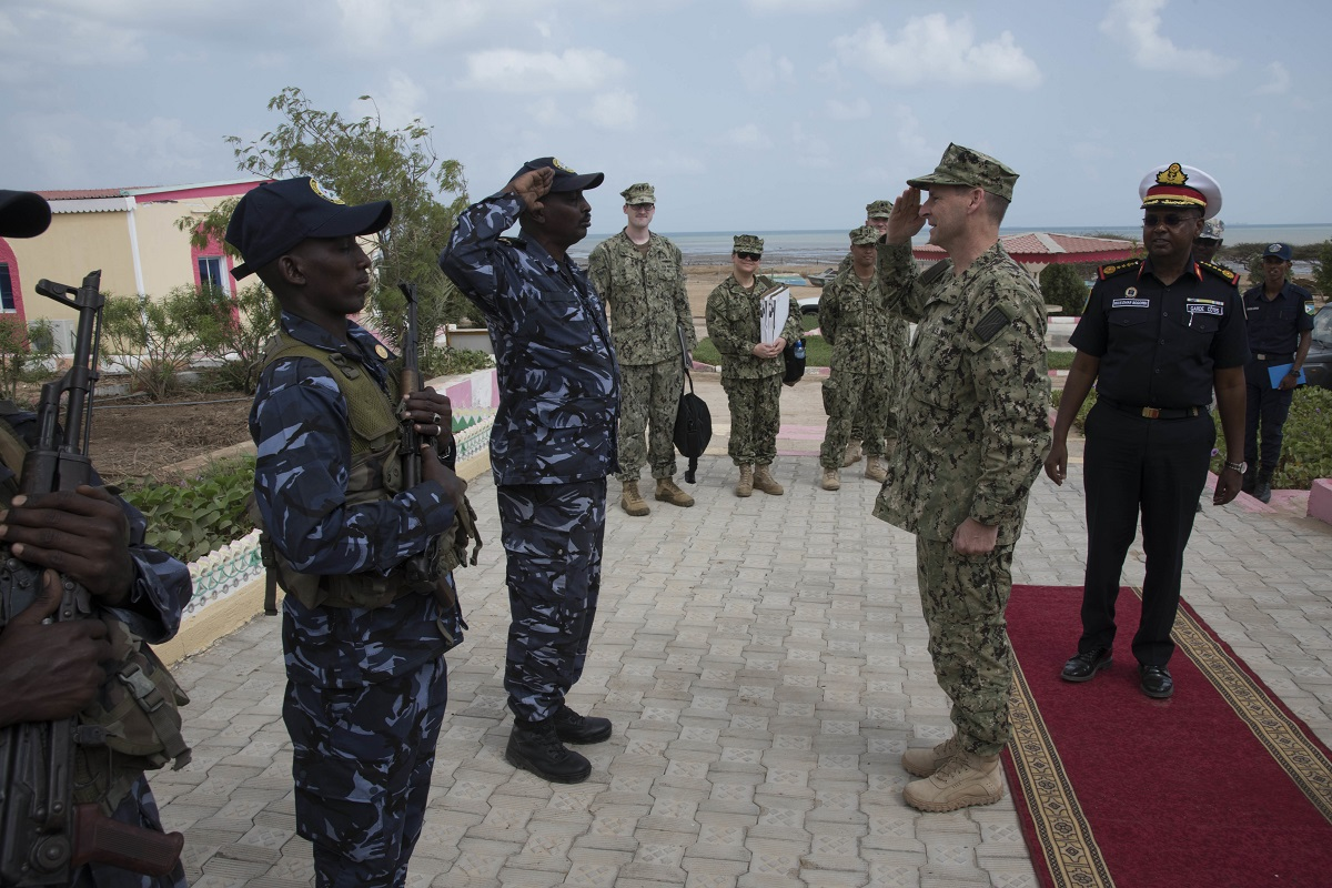africom headquarter location Rear adm shawn e duane, vice commander of 6th fleet, receives a salute from a member of the djiboutian coast guard during the opening ceremony of the cutlass express 2018 exercise on jan 31 in.
