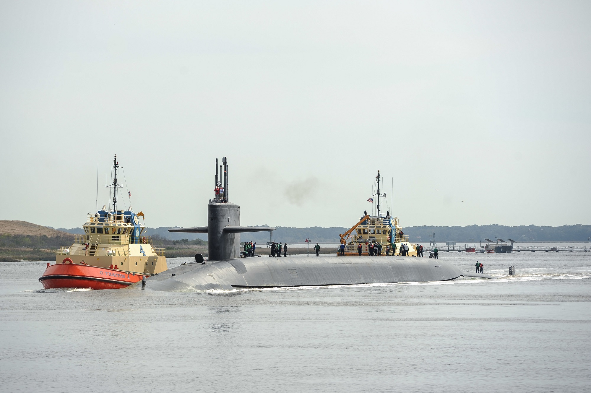 Two Submarine Base Kings Bay sailors have died of suspected drug overdoses in the past week. One was assigned to the submarine Wyoming. (ET1 Mark Treen/Navy)
