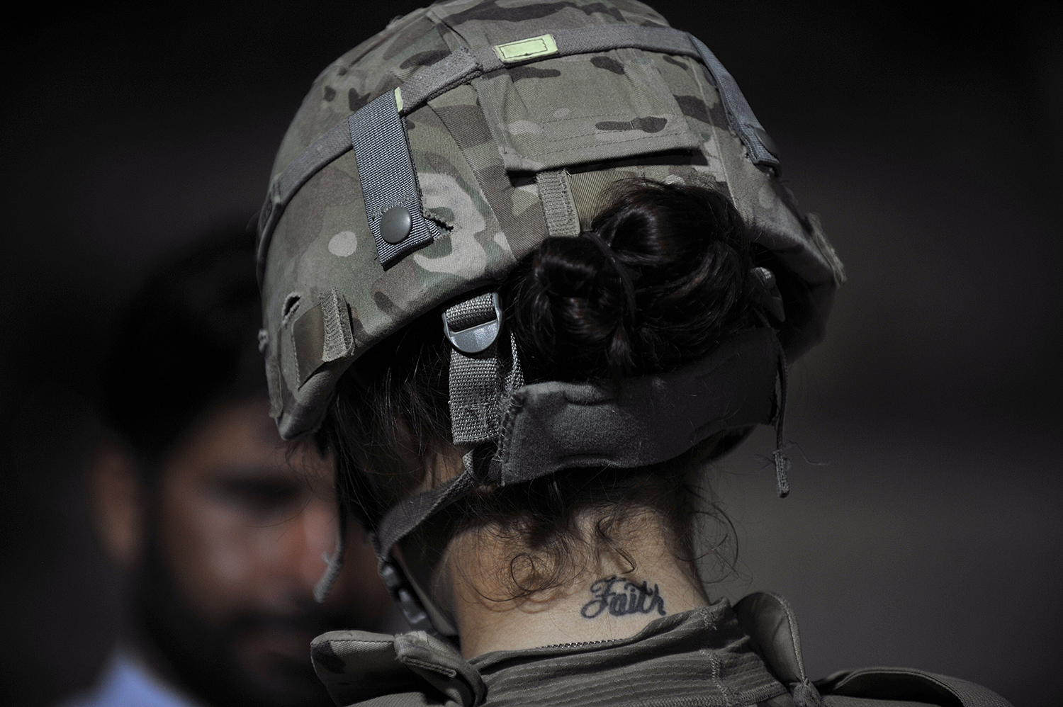 A U.S. Army soldier uses an Automated Biometric Identification System during a mission in Turkham Nangarhar bordering with Pakistan on Sept. 28, 2011. (Tausee Mustafa/AFP via Getty Images)