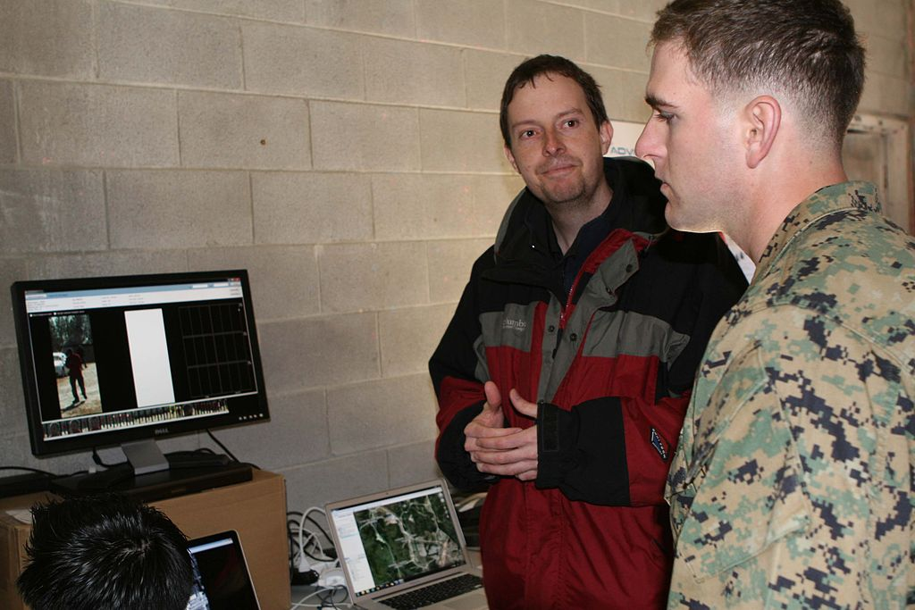 Facial recognition technology is a tool largely developed and refined in the commercial sector that could have tremendous implications in processing images captured by surveillance platforms. (Walter D. Marino II, U.S. Marine Corps)