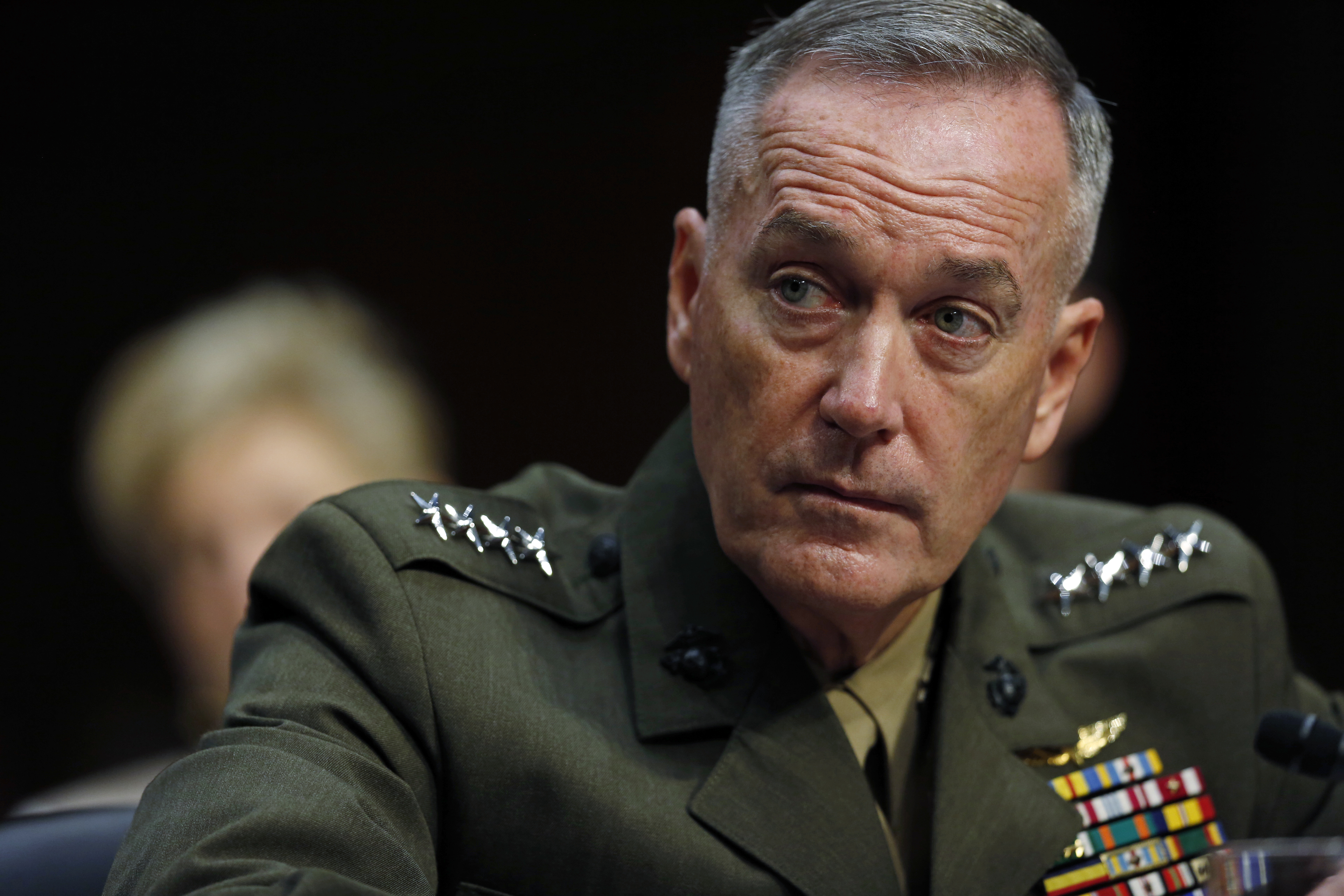Gen. Joseph Dunford attends a hearing before the Senate Armed Services Committee about his nomination to be the Chairman of the Joint Chiefs of Staff on July 9, 2015. (Mike Morones/Staff)