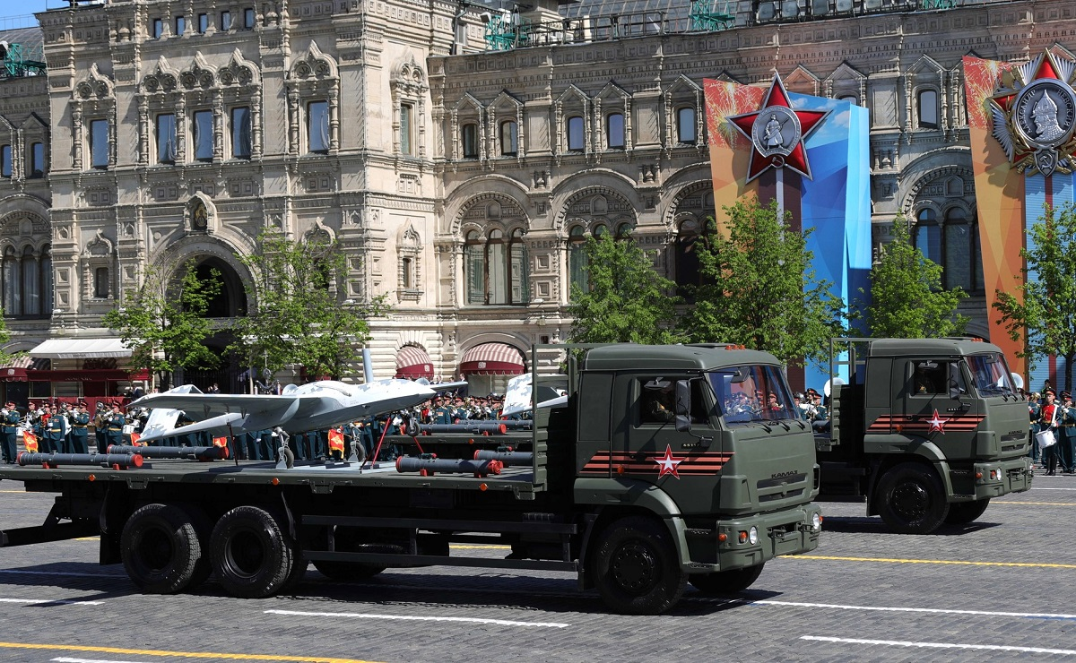 Russia's Korsar UAV made an appearance at the parade. (Russian Presidential Press and Information Office)