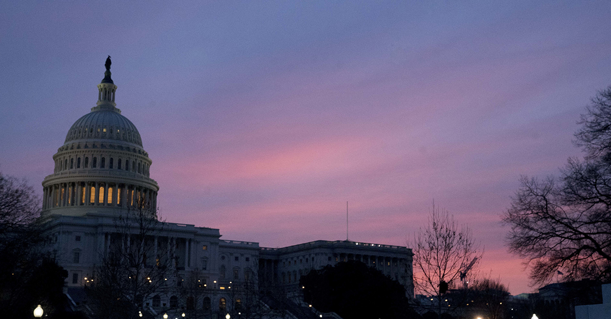 The Capitol Dome of the Capitol Building at sunrise, Friday, Feb. 9, 2018, in Washington. President Trump has proposed a 2.6 percent increase in military pay, but how does that compare with past years? (Andrew Harnik/AP)