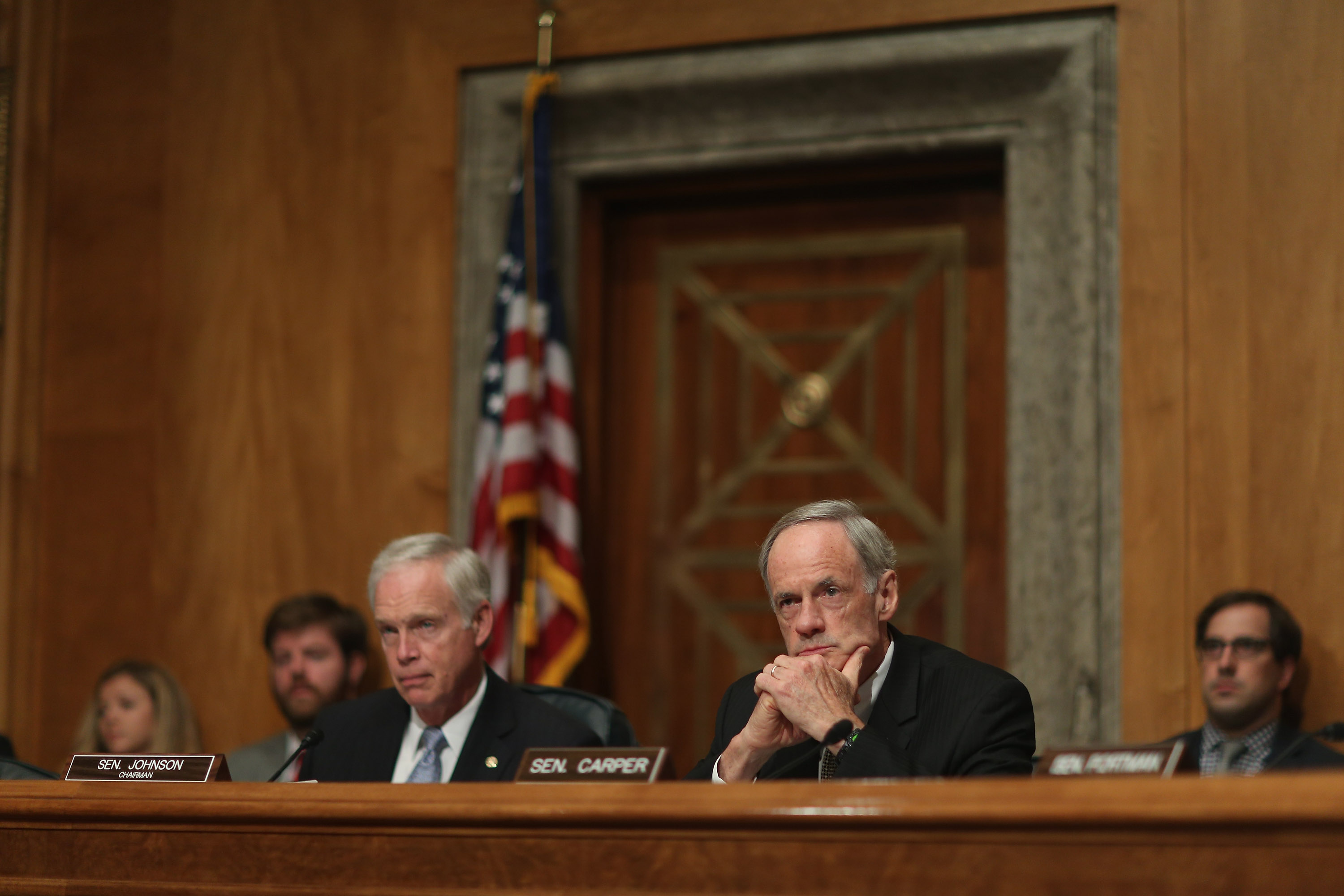 Members of the Homeland Security Committee wrote a letter to OMB asking it to develop a strategic plan sharing supply chain information with Congress. (Chip Somodevilla/Getty Images)
