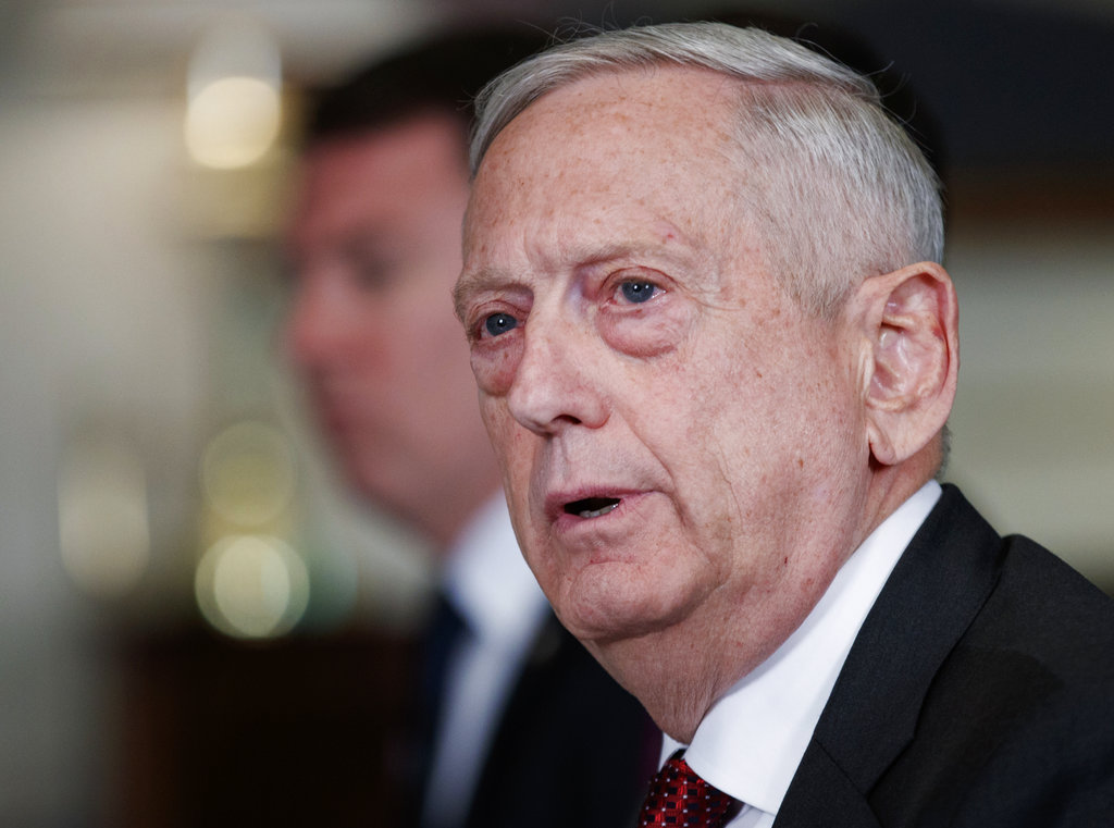 Pentagon 'still assessing' possible missile strike on Syria, Mattis says