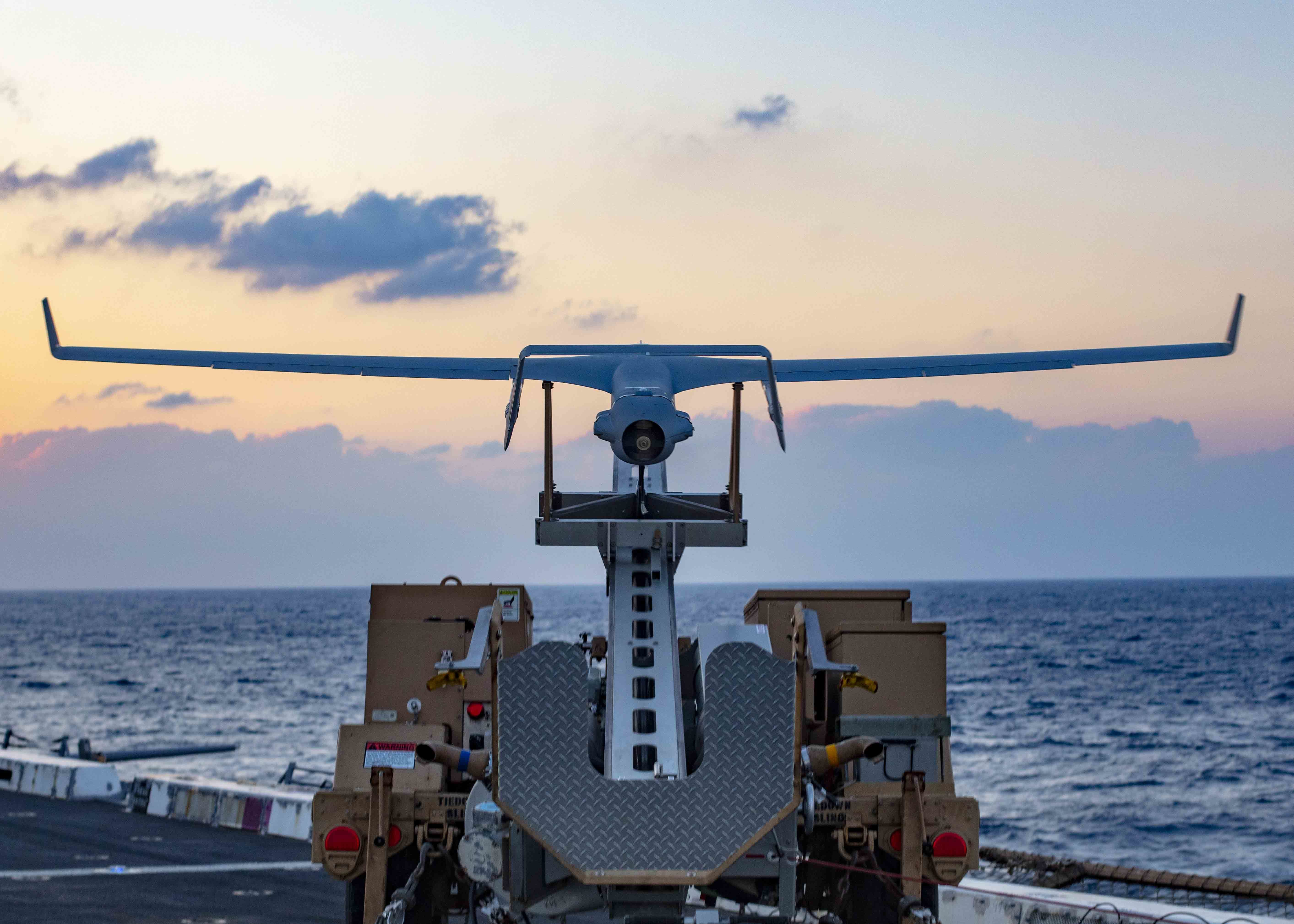 Congress supports the Navy's interest in Blackjack drones, but wants to make sure that the Navy is thinking of the future and prioritizing a newer engine in its acquisitions. (Brandon Parker/Navy)