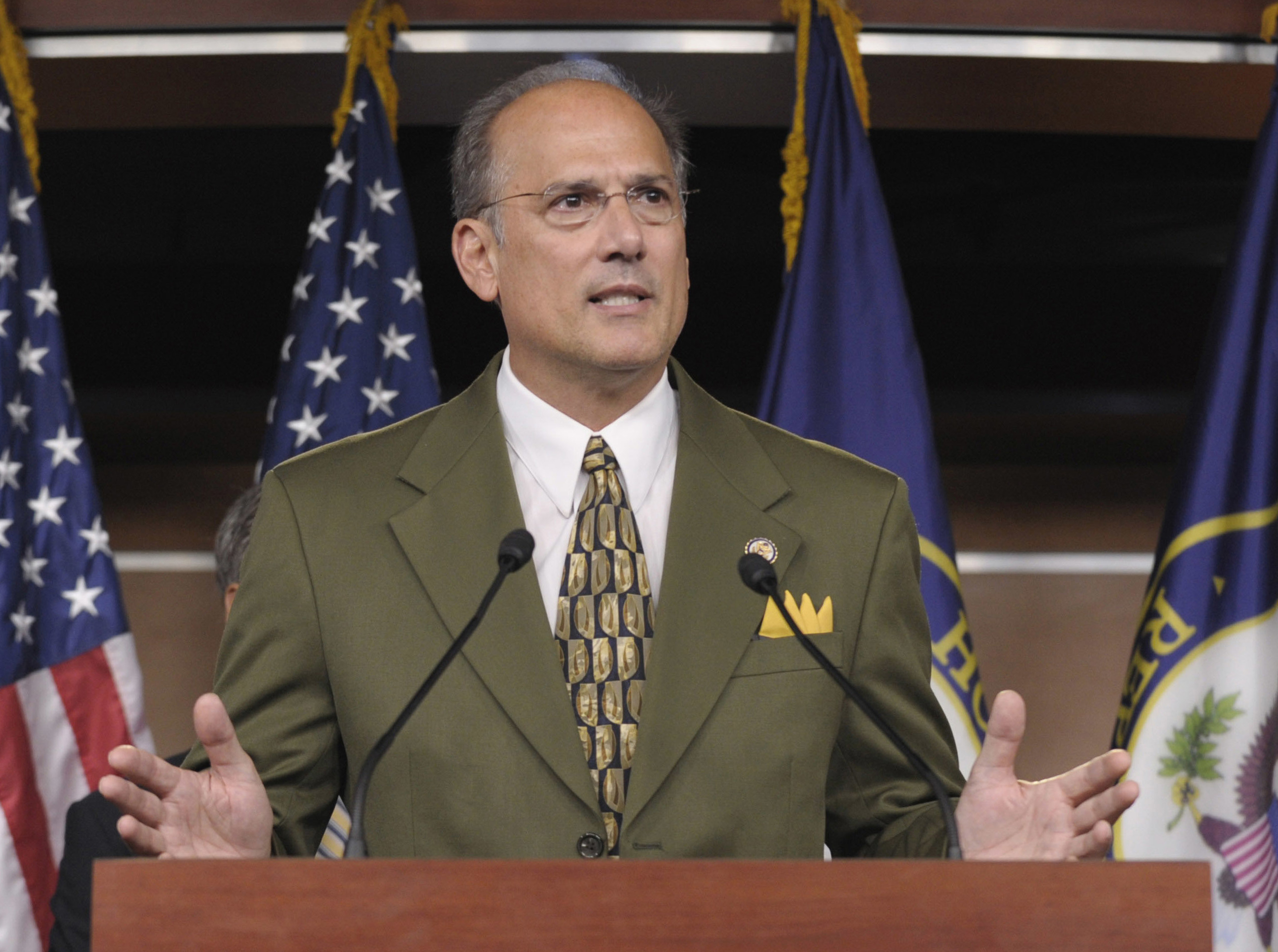 In this Sept. 23, 2011 file photo, Rep. Thomas Marino, R-Pa., speaks during a news conference on Capitol Hill in Washington. (Susan Walsh/AP)