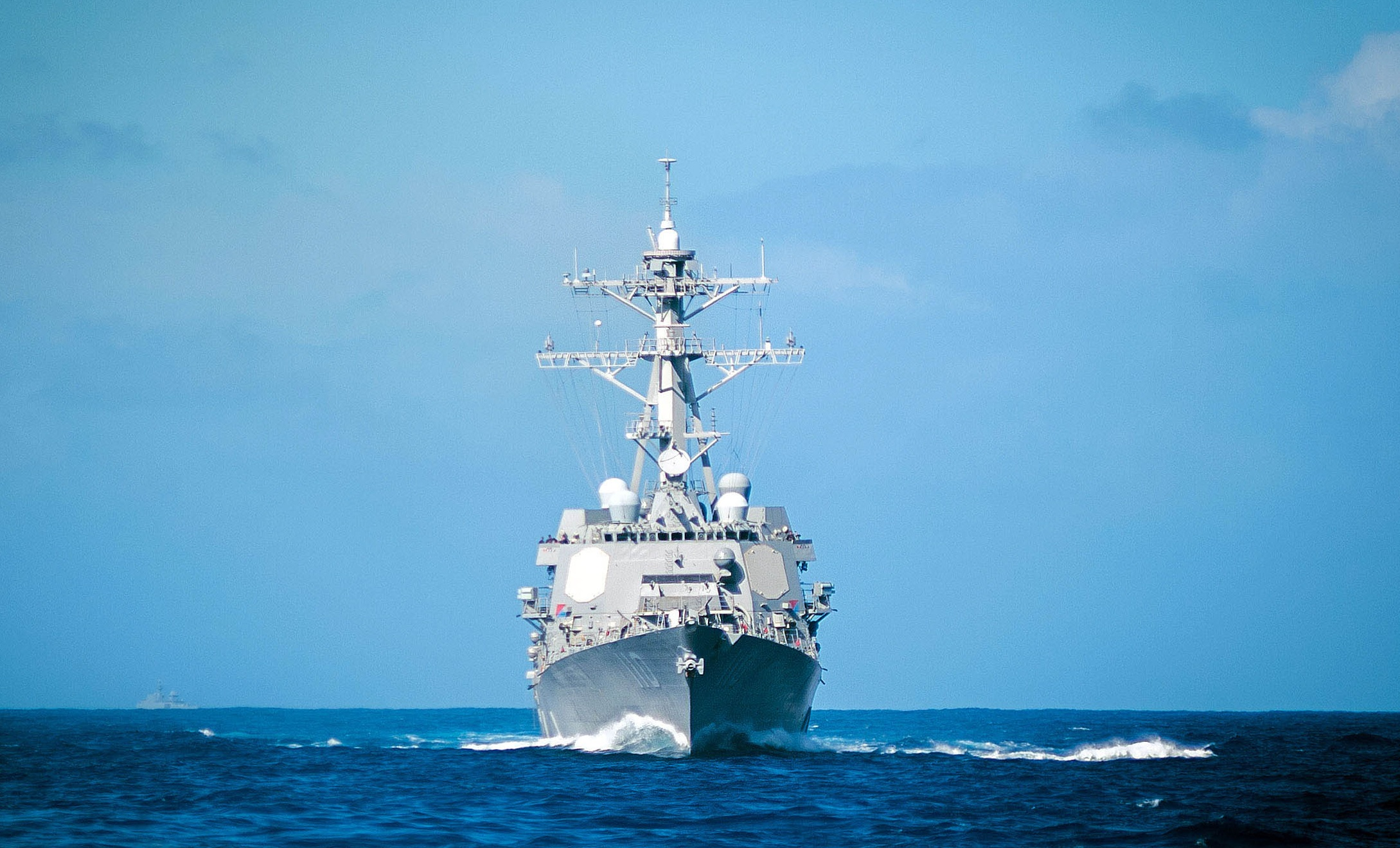 The destroyer William P. Lawrence underway in the Pacific. The U.S. Navy is looking to upgrade all the Flight IIA destroyers with Spy-6-type radars, a major capability increase over the Spy-1D radars currently installed. (U.S. Navy photo)