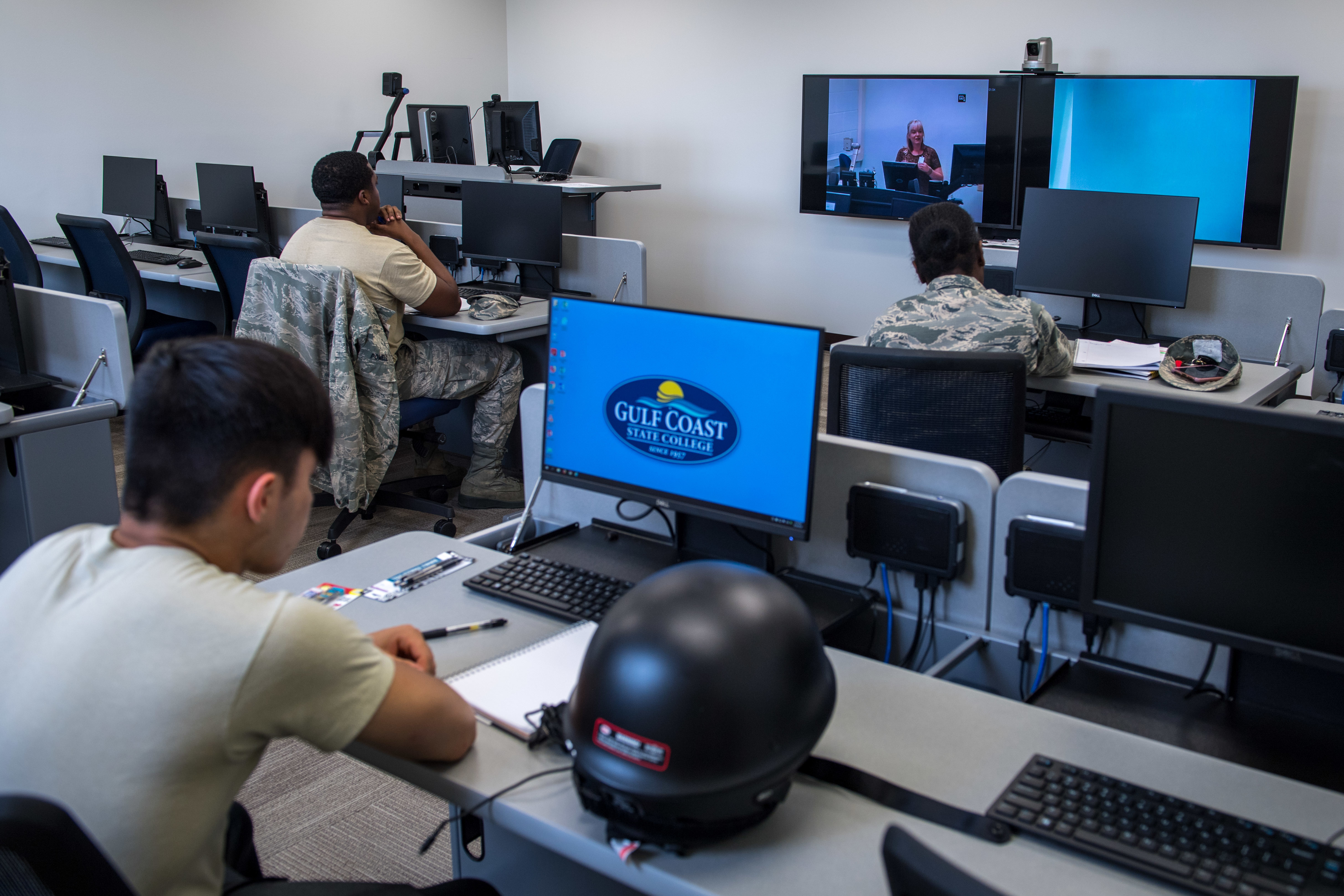 "Veterans Affairs officials will now recognize any ""hybrid training"" — classes that are a mix of online and in-class instruction — as part of the calculation for full housing stipend rates.. (Senior Airman Anthony Nin Leclerec/Air Force)"