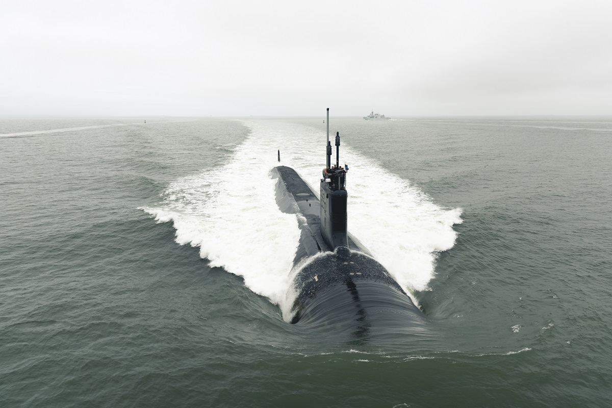 The Virginia-class attack submarine Indiana departs Newport News Shipbuilding to conduct sea trials. The Indiana is one of the last of the Block III Virginias. The Army may want to consider following the idea of