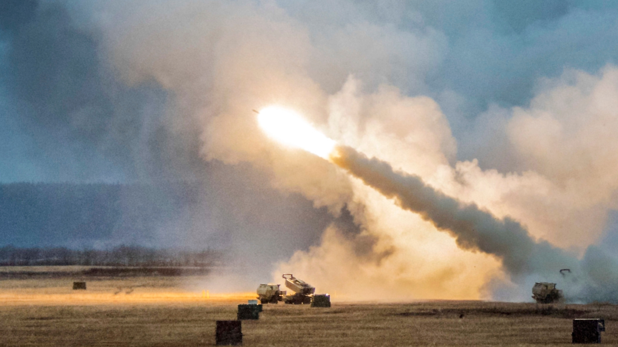 Army Soldiers assigned to Alpha Battery, 3rd Battalion, 27th Field Artillery Regiment (HIMARS), 18th Field Artillery Regiment, Fort Bragg, N.C., fire a M142 High Mobility Artillery Rocket System at Fort Greely, Alaska, Oct. 19, 2018, during Red Flag-Alaska 19-1. (A1C Jonathan Valdes Montijo/Air Force)