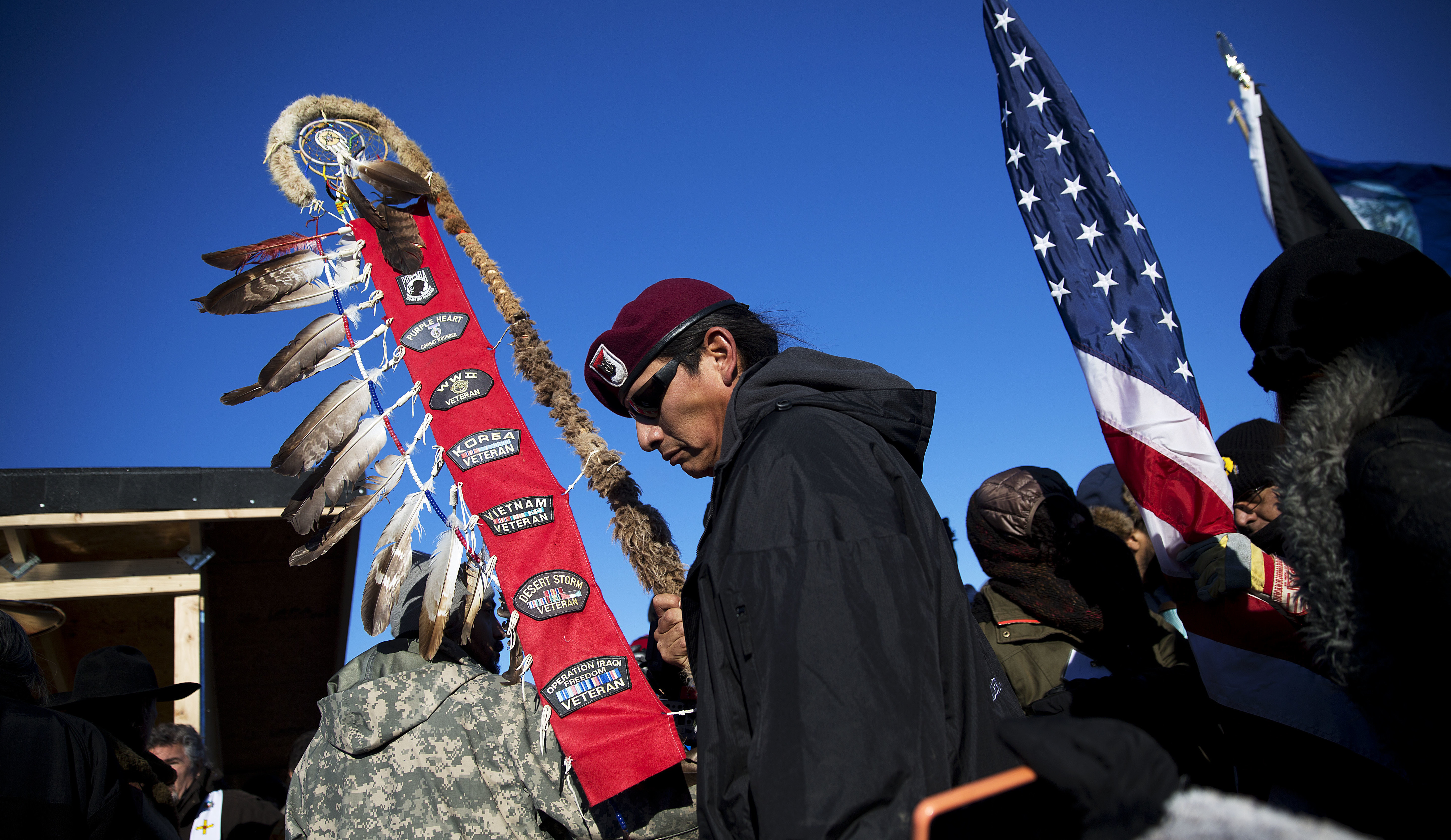 Native Americans serve in the military at a higher percentage than any other ethnicity. (David Goldman/AP)