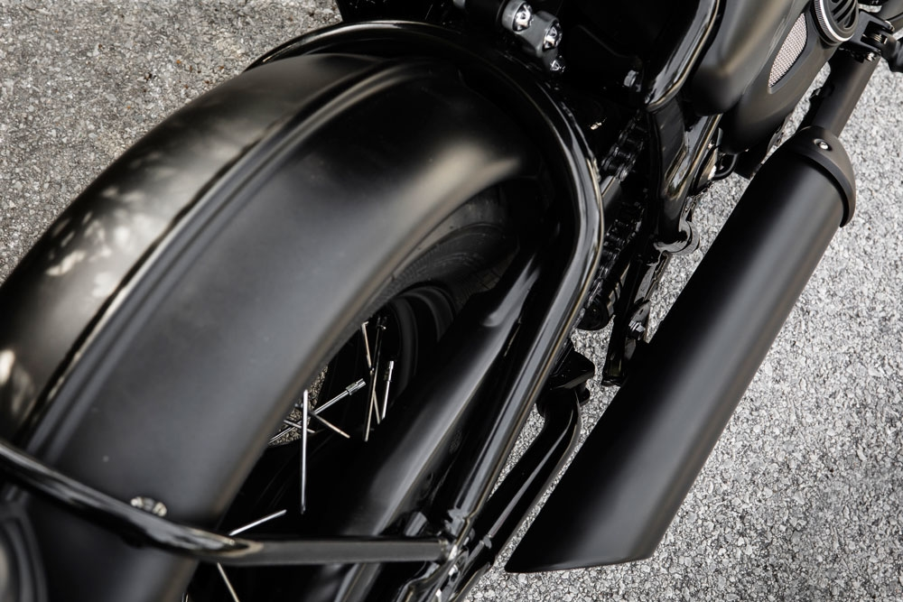 Steel fenders? Yes please. It's nice having something you can tap on with your knuckle that feels as beefy as the bike looks. Sure, it adds weight, but that's not really what we're worried about here. (Triumph Motorcycles)