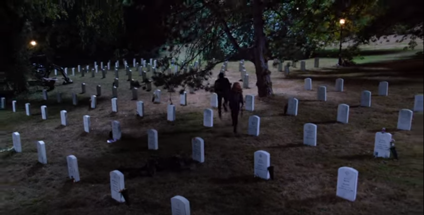 A future X-Files episode will take place in Arlington National Cemtery. It was not filmed on location. (Screenshot)