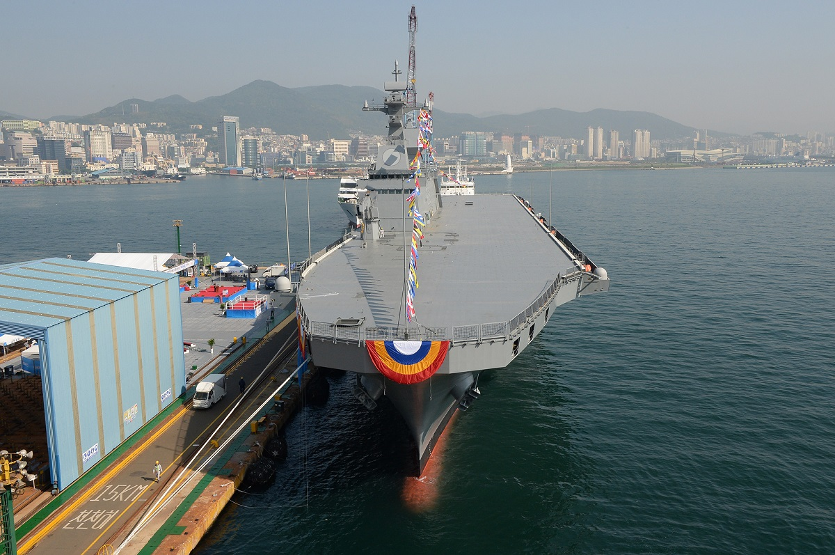 South Korea already operates the landing platform helicopter ship Marado. (Courtesy of the South Korean Defense Acquisition Program Administration)