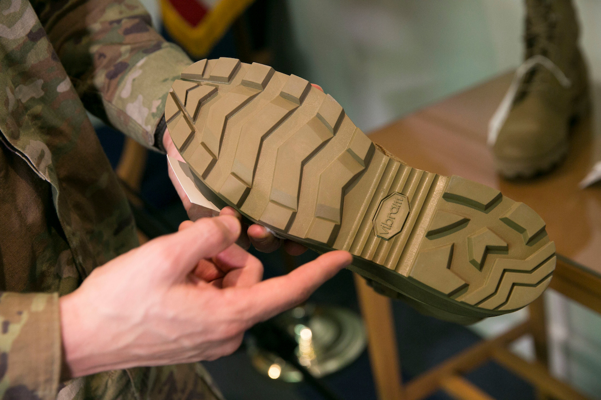 The Army's new Jungle Combat Boot will be issued to soldiers in Hawaii in January for additional testing and feedback. This latest version has less stack height, or height off the ground, which helps protect soldiers from rolling their ankles. (Alan Lessig/Staff)