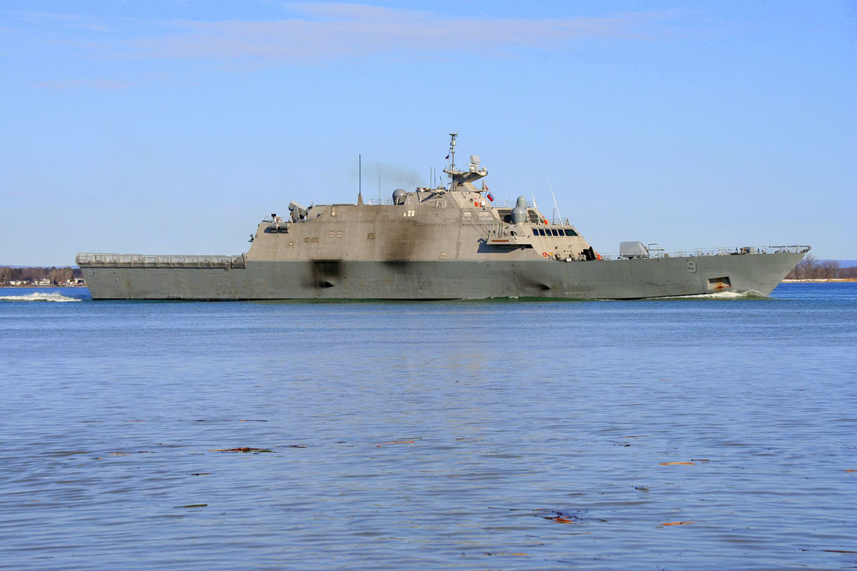 Free of ice and Montreal, LCS USS Little Rock heads home