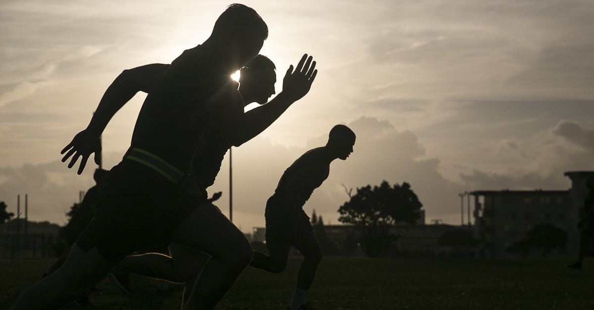 Exercise is just one aspect that DoD officials are exploring in a health behaviors survey that is being fielded to more than 400,000 service members. (Gunnery Sgt. T. T. Parish/Marine Corps)
