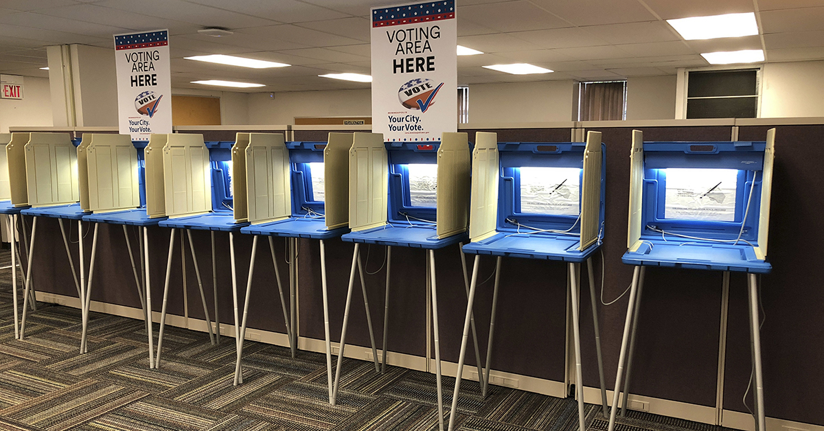 A new framework lays out how the federal government will decide on notifying the public of cyberthreats to elections. (Steve Karnowski/AP)