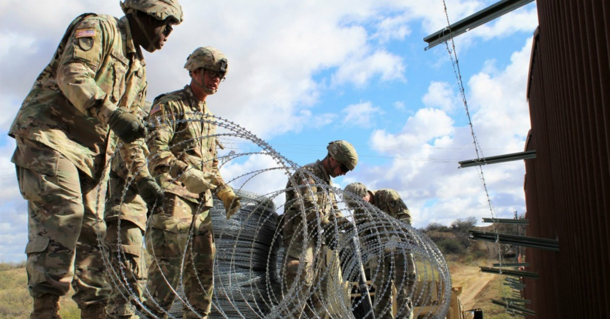 An October Military Times poll of active-duty troops found that 59.5 percent of respondents believe immigration was either a small threat to U.S. national security or not one at all. (2nd Lt. Corey Maisch/U.S. Army)