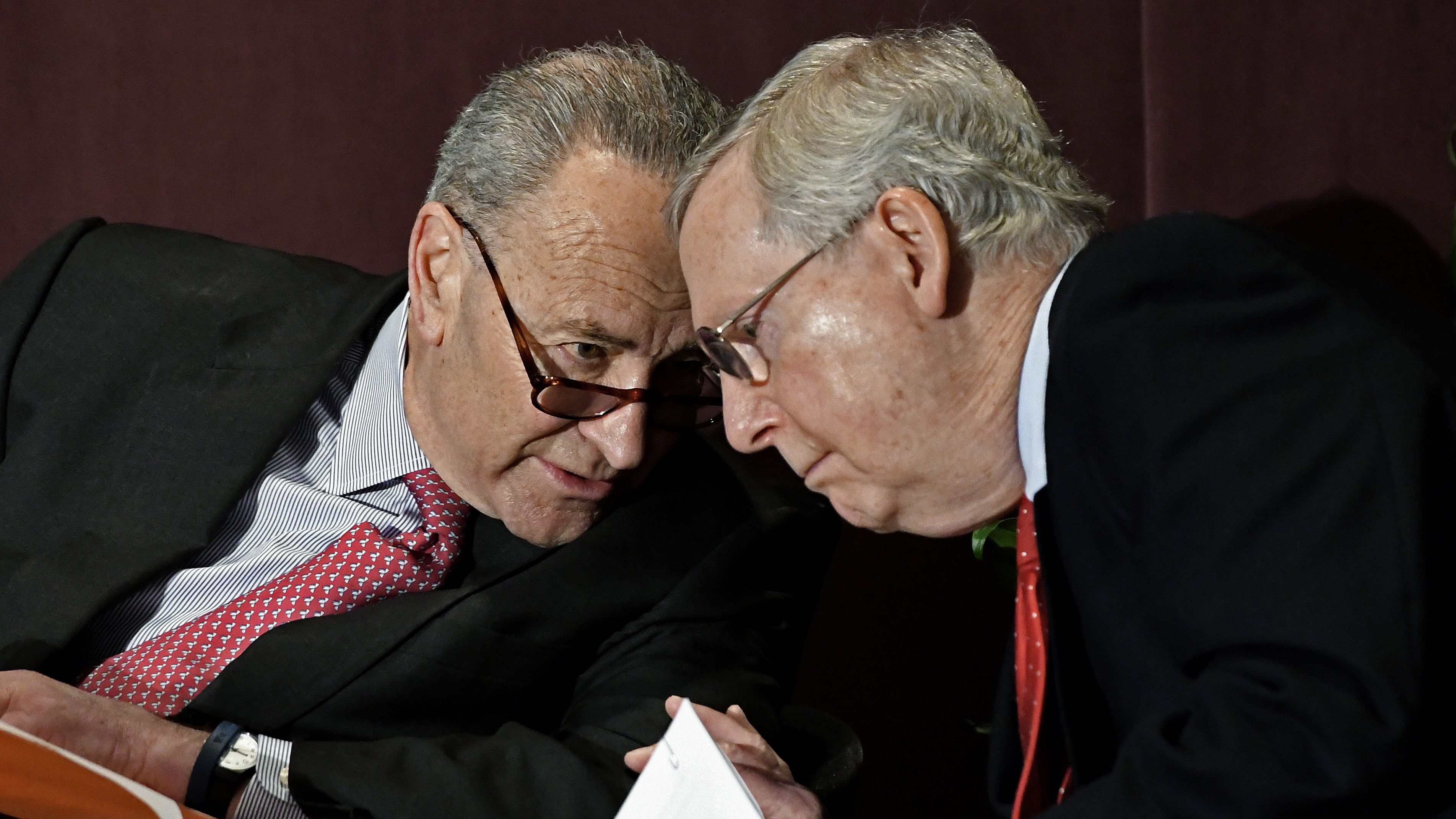 Sens. Chuck Schumer, D-N.Y., and Mitch McConnell, R-Ky., (pictured here in 2018) recently came to an agreement that would bring proposals offered by both President Donald Trump and Democratic leaders to the Senate floor for votes. (Timothy D. Easley/AP)