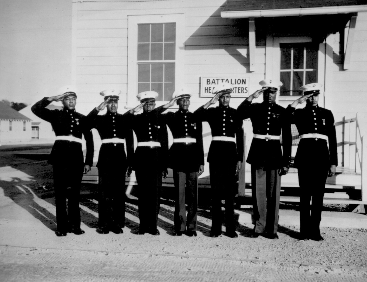 First black Marines mark 75th anniversary of the segregated boot camp