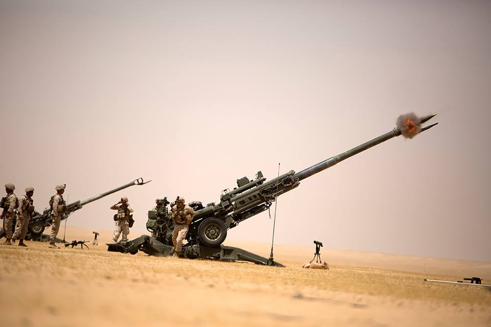Kick-ass video shows Marines in Syria blasting howitzers at ISIS