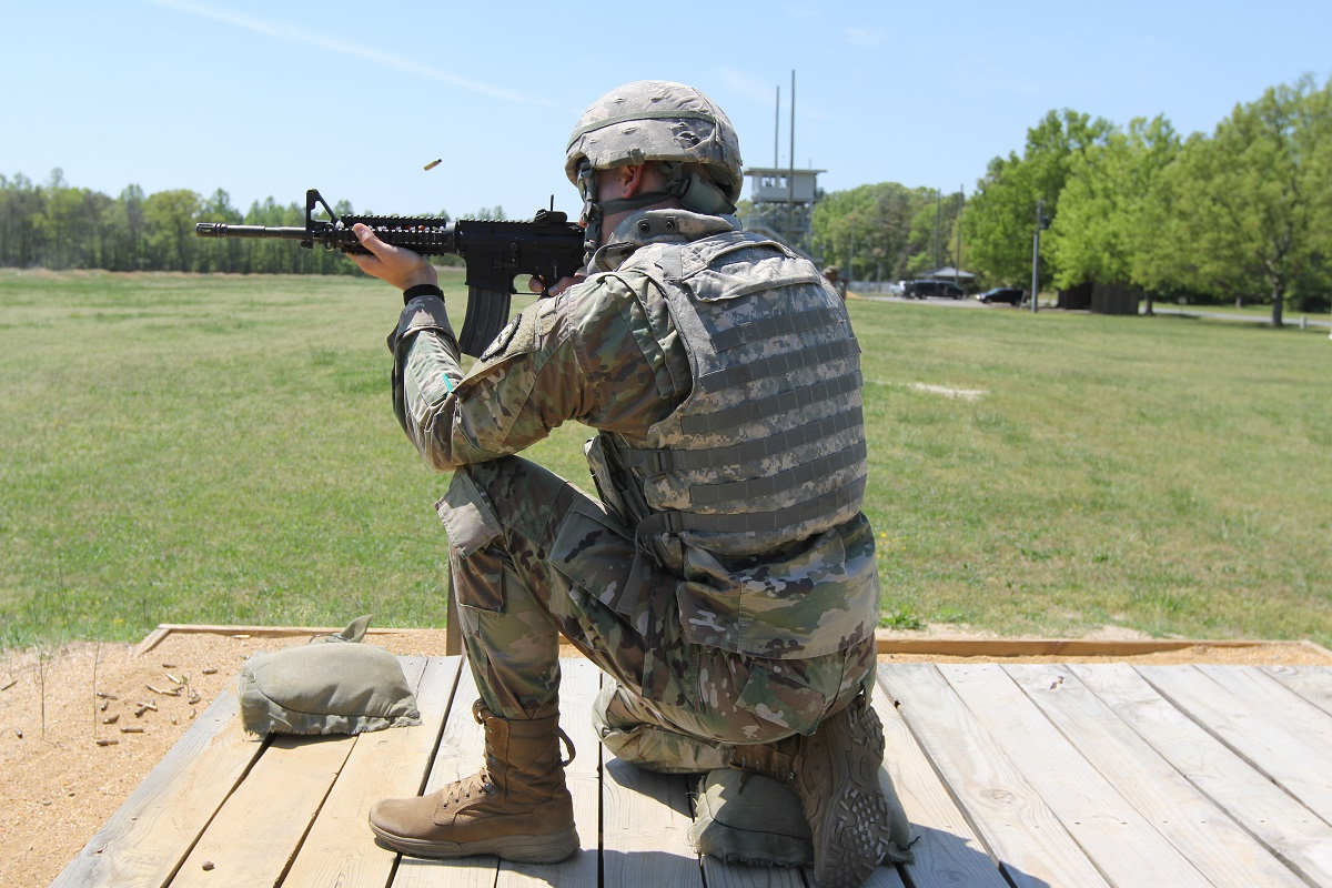 The Army is testing a redesigned, lighter torso protection piece for the body armor kit. (Army)