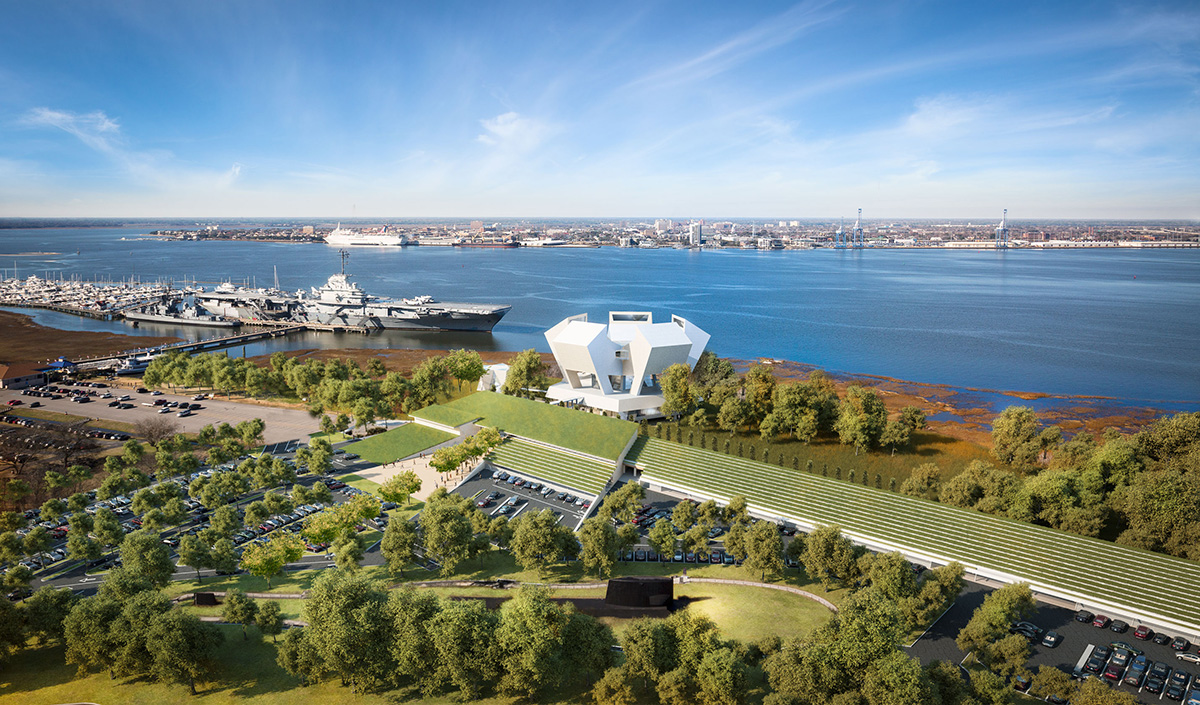 The local planning commission overwhelmingly rejected the design of a National Medal of Honor Museum in South Carolina. (Safdie Architects for National Medal of Honor Museum Foundation)