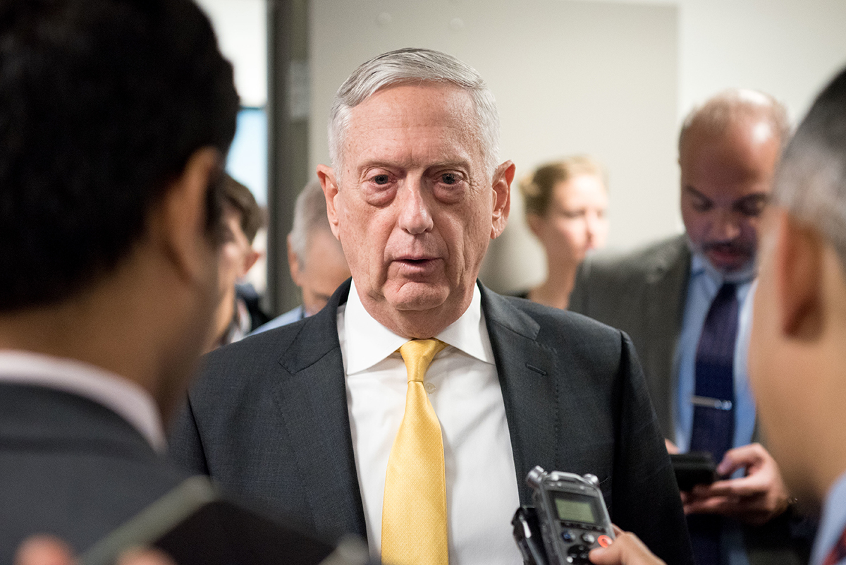 Secretary of Defense James Mattis speaks to reporters at the Pentagon in Washington on Nov. 21, 2018. (Army Sgt. Amber I. Smith/DoD)