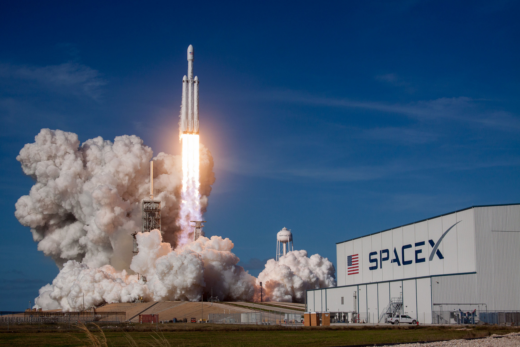 Falcon Heavy demo launch on Jan. 6 at Kennedy Space Center in Cape Canaveral, Florida.