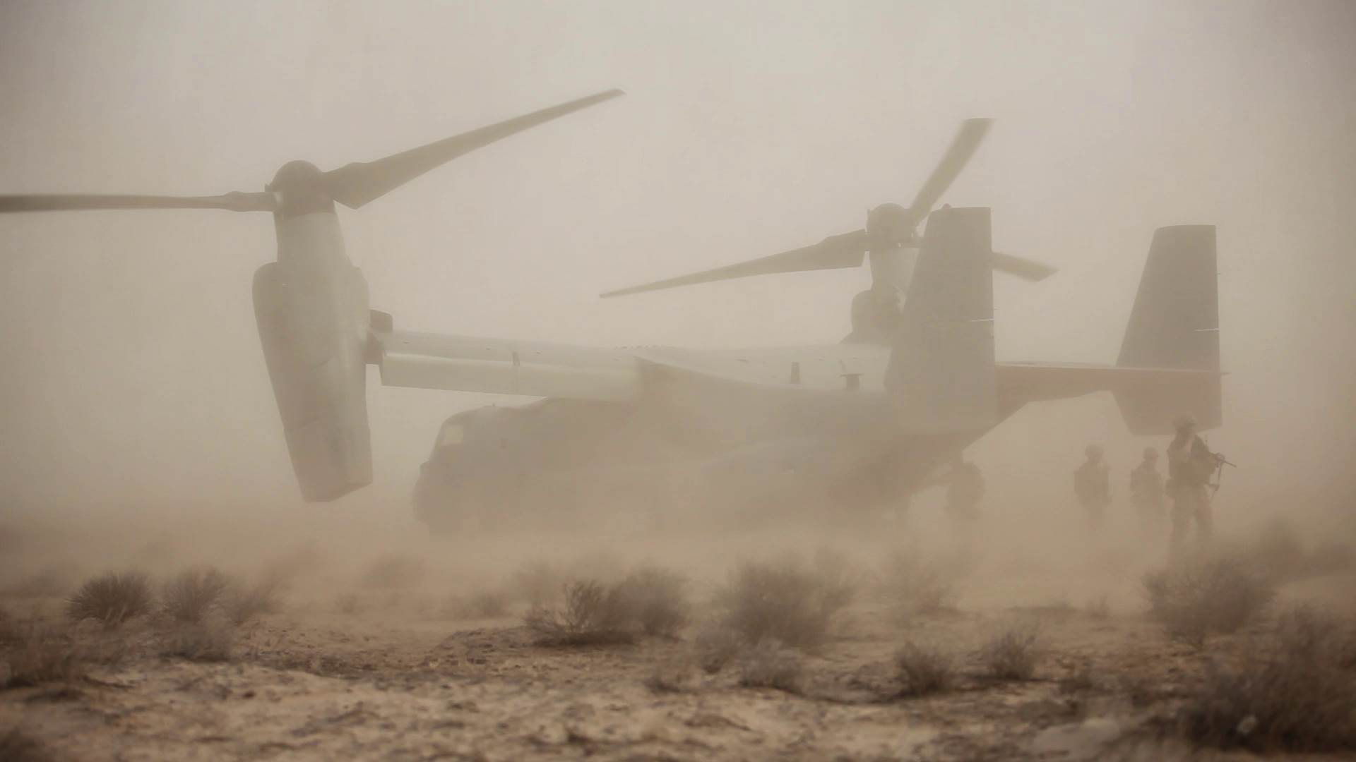 Two troops injured when Marine Osprey crashes in Syria