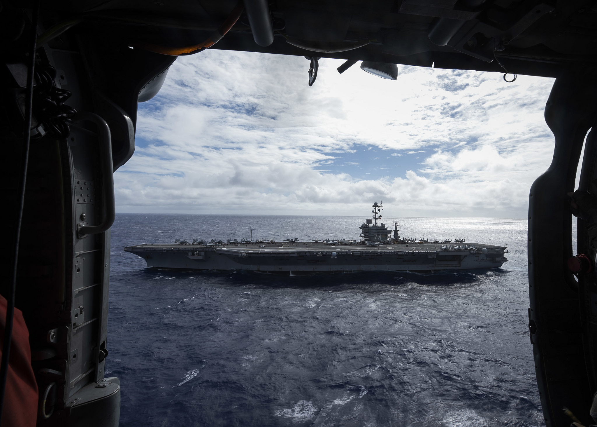 The Nimitz-class aircraft carrier USS John C. Stennis (CVN 74) transits the Pacific Ocean on Nov. 9, 2018. (MC3 Connor D. Loessin/Navy)