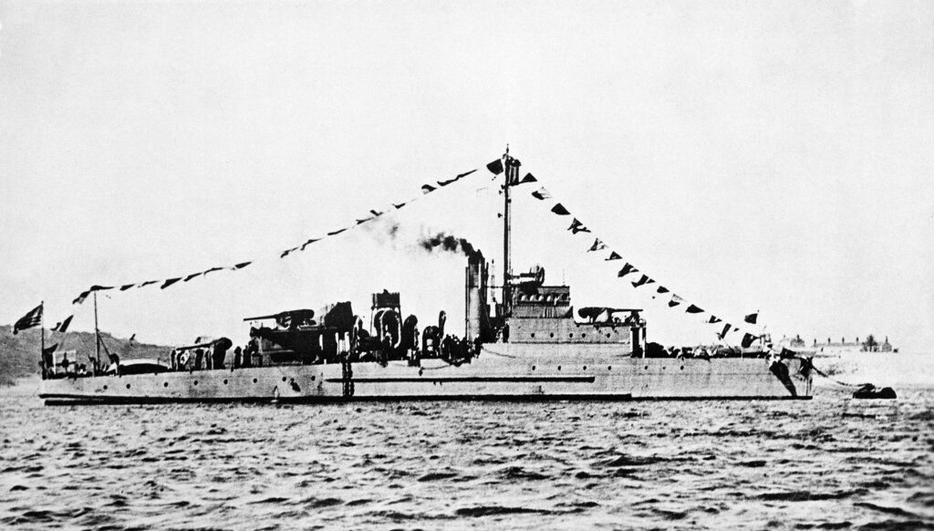 This undated photo shows an Eagle-class patrol boat built during World War I. It's similar to the Eagle PE-56, which exploded and sank off Cape Elizabeth, Maine, on April 23, 1945, killing most of its crew. (Navy)
